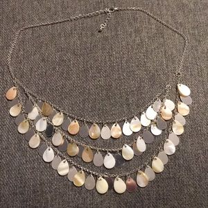 Silver dangly necklace lightly worn